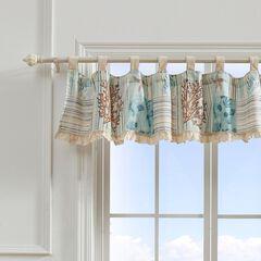 Key West Seafoam Window Valance by Greenland Home Fashions,