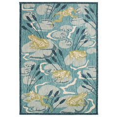 Liora Manne Portofino Frog Pond Indoor/Outdoor Rug,