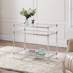 Carling Tall Acrylic Accent Table,