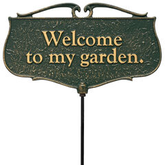Welcome To My Garden - Garden Sign,