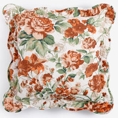 """Florence 16"""" Square Pillow, SPICE FLORAL MULTI"""