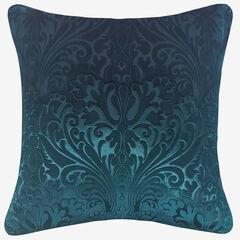 Embossed Panne Velvet Decorative Pillow, TEAL