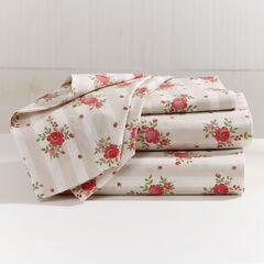 200-TC Percale Lines & Roses Sheet Set,