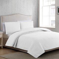 Estate Collection Marissa Medallion Quilt Set, WHITE