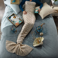 Metallic Mermaid Blanket ,