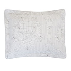 Bernadette Embroidered Sham, CHATEAU GRAY