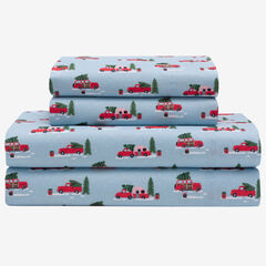 Holly Jolly Microfiber Sheet Set, TRUCK