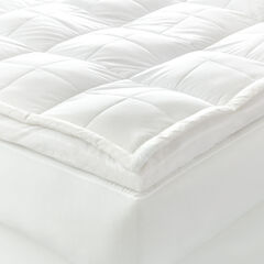 Temperature Balancing Fiber Bed Topper, WHITE