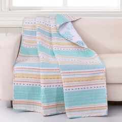 Barefoot Bungalow Pacifica Quilted Throw Blanket,