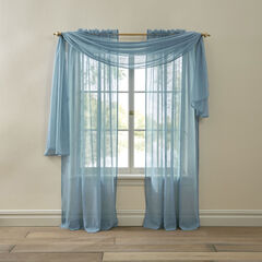 BH Studio Crushed Voile Scarf Valance, POWDER BLUE
