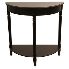 Antique Half Round Table,