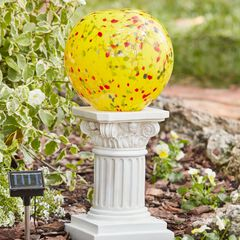 Solar Glass Ball Column,