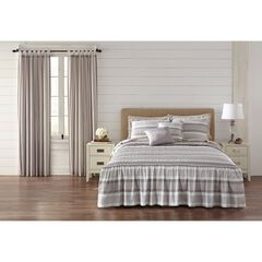 Farmhouse Flounce 5-Pc. Bedspread Set, STRIPE