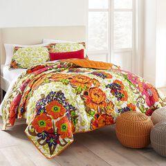 Priya Floral Print Quilt,