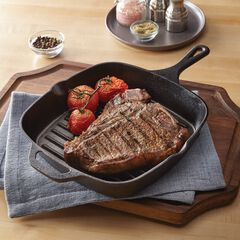 "10""Sq. Cast Iron Grill Pan,"