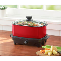 5-QT. Slow Cooker with Griddle & Tote Bag,