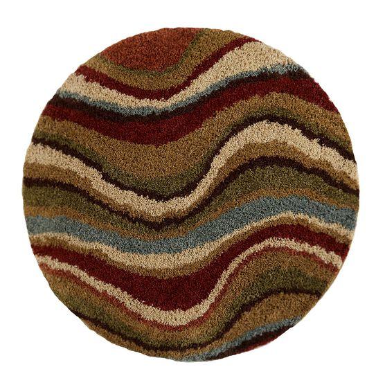 Wave Round Shag Rug,