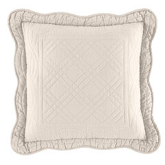 "Florence 16"" Square Pillow, ECRU"