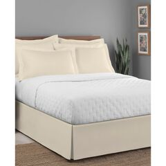 "Luxury Hotel Classic Tailored 14"" Drop Ivory Bed Skirt,"