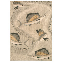 Liora Manne Portofino Sailfish Indoor/Outdoor Rug,