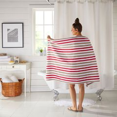 "BH Studio Striped 35"" x 70"" Bath Sheet,"