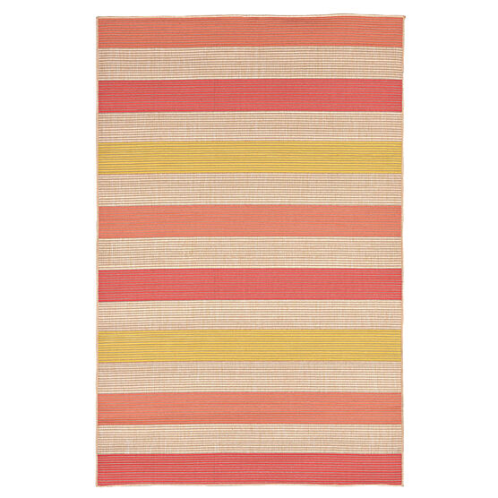 Nico Stripe Rug 4'10'W x 7'6'L, ORANGE