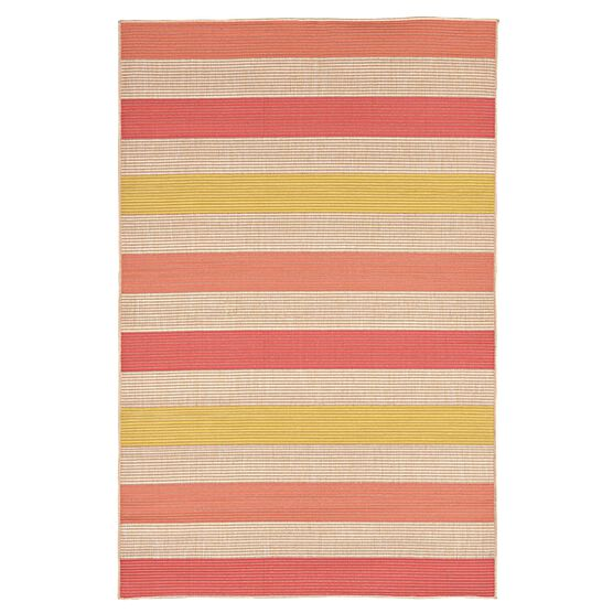Nico Stripe Rug 7'10'W x 9'6'L, ORANGE
