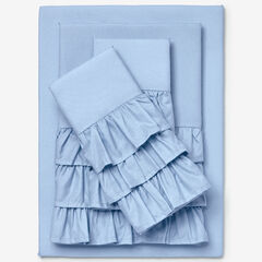 Ruffle Microfiber Sheet Set, LIGHT BLUE