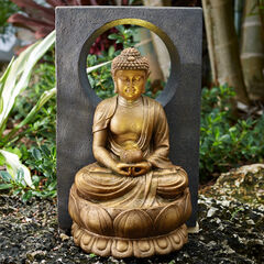 Buddha Fountain with LED Light,