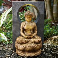 Buddha Fountain with LED Light,