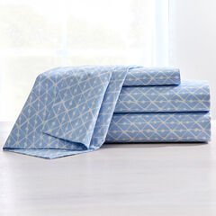 200-TC Percale Rhombus Sheet Set, KENTUCKY BLUE