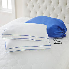 Waterproof Mattress Pad & Pillow Set, WHITE