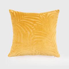 Palm Leave Velvet Accent Pillow,