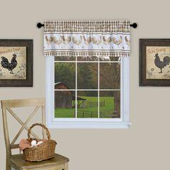 Barnyard Window Curtain Valance - 58x14,