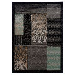 Milan Black/Black Area Rug Collection,