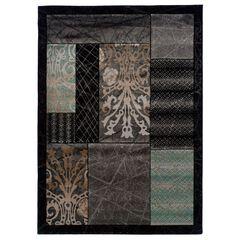 Milan Black/Black Area Rug Collection,