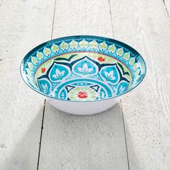 Blue Casab Round Serving Bowl,