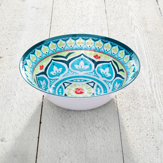 Blue Casab Round Serving Bowl, MULTI