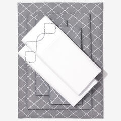 Nolita 6-Pc. Microfiber Sheet Set, GRAY TRELLIS