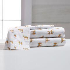 200-TC Graphic Camel Cotton Sheet Sets,