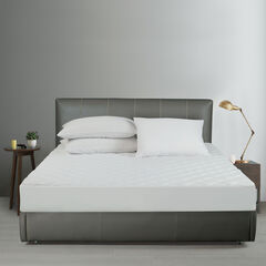 All-In-One Cooling Bamboo Fitted Mattress Pad, Twin,