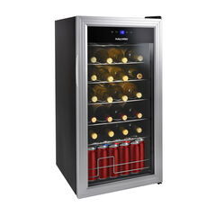 Kalorik 2-in-1 Wine and Beverage Center, Silver,