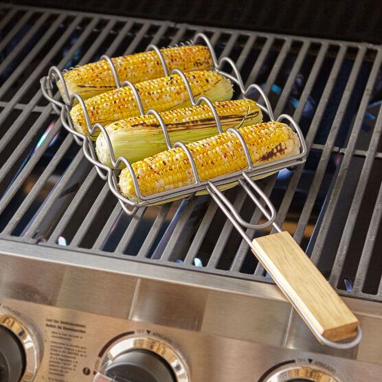 BBQ Corn Griller Basket, SILVER