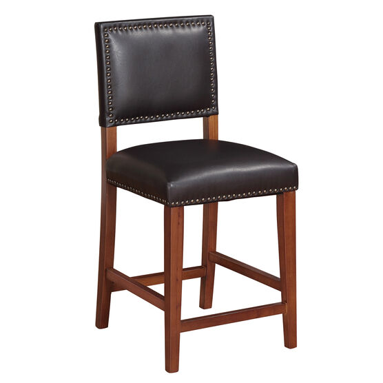 "Brook Counter Stool 24""H, BLACK"