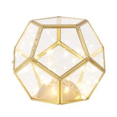 Small Pre-Lit Glass Lantern ,