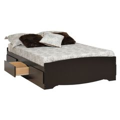 Prepac Sonoma Black Queen Platform Storage Bed (6-drawers),