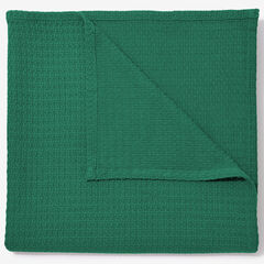 BH Studio Primrose Cotton XL Blanket, DEEP GREEN