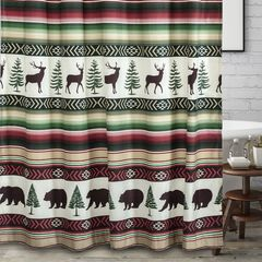 Yosemite Campfire Bath Shower Curtain,