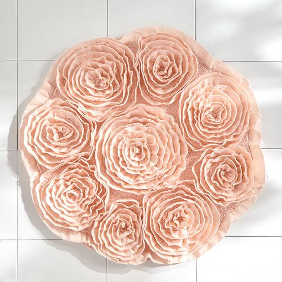 Fleur de Chic Round Bath Rug,