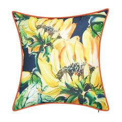 Indoor & Outdoor Sunflower Watercolor Reversible Decorative Pillow,